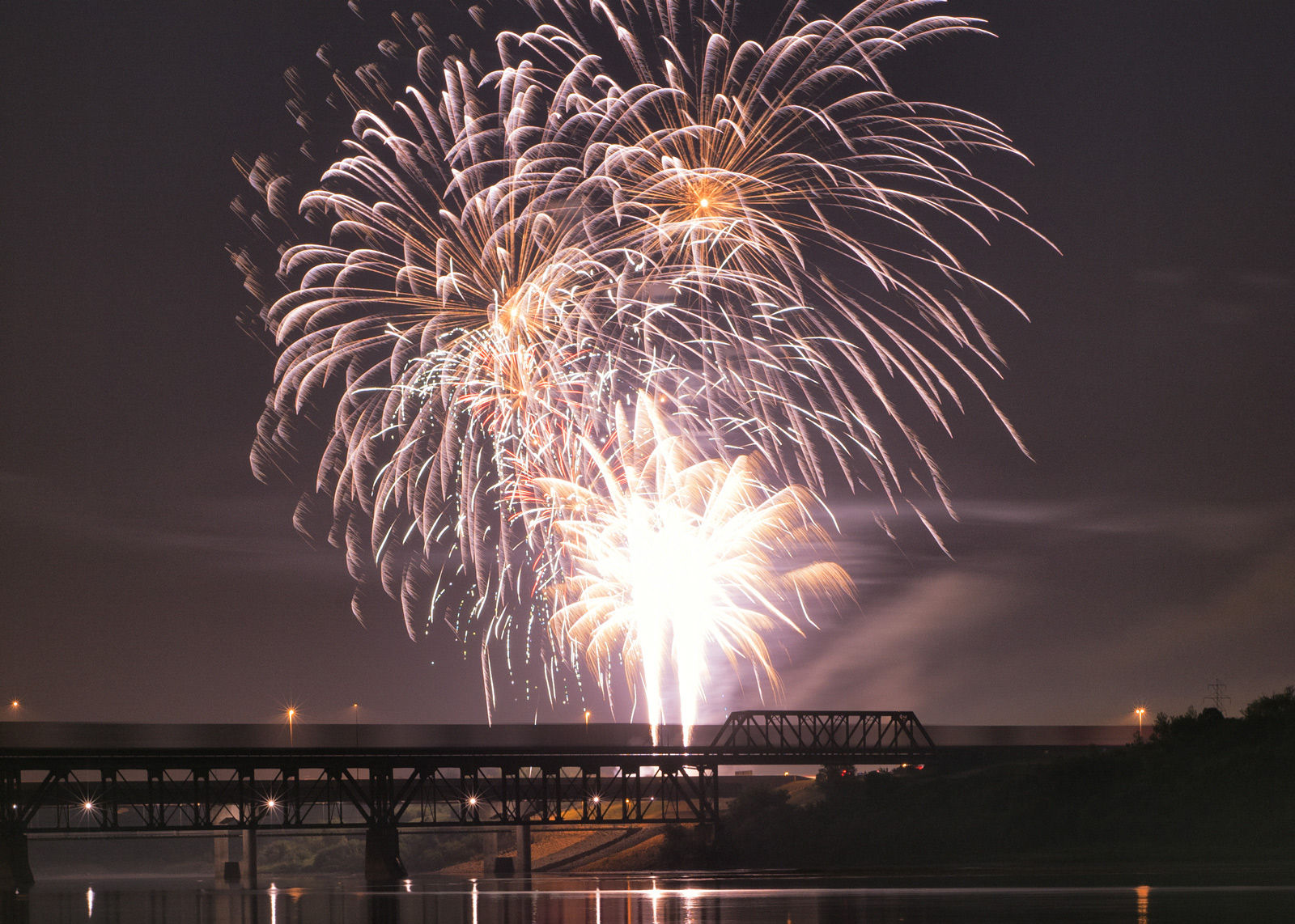 Catch the fireworks over the South Saskatchewan River on Canada Day, one of the most popular tourism Saskatoon events.